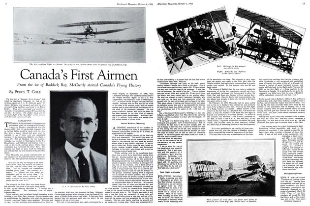 Article Preview: Canada's First Airmen, October 1931 | Maclean's