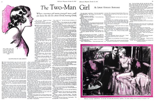 Article Preview: The Two-Man Girl, October 15th 1931 1931 | Maclean's