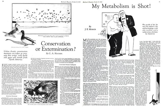 Article Preview: My Metabolism is Shot!, October 15th 1931 1931 | Maclean's