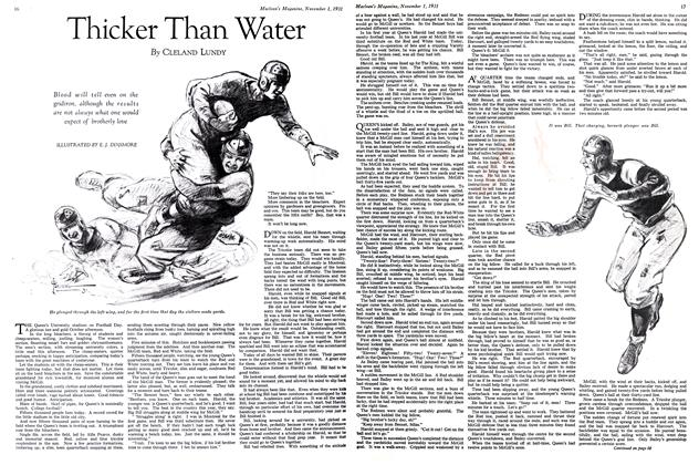 Article Preview: Thicker Than Water, November 1st 1931 1931 | Maclean's
