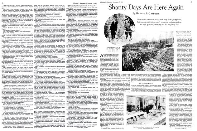 Article Preview: Shanty Days Are Here Again, November 1st 1931 1931 | Maclean's