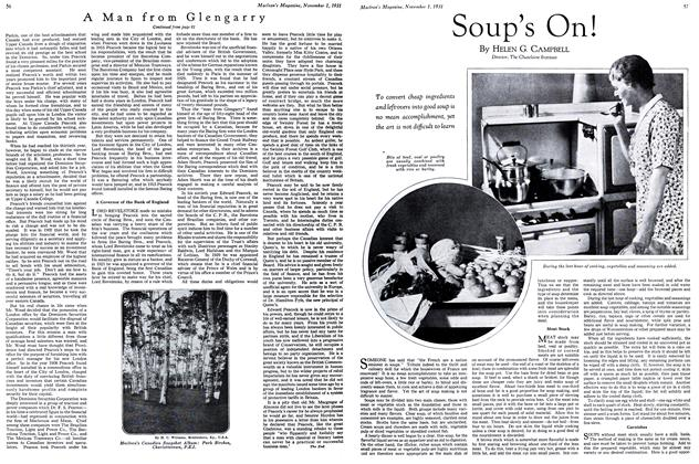 Article Preview: Soup's On!, November 1st 1931 1931 | Maclean's