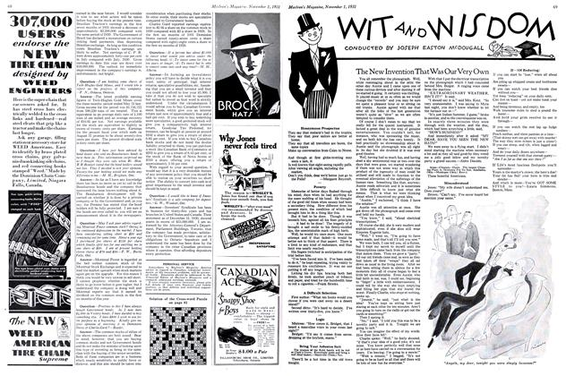 Article Preview: WIT AND WISDOM, November 1st 1931 1931   Maclean's