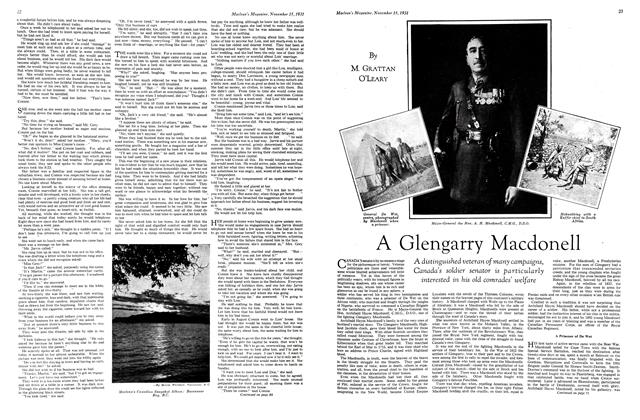 Article Preview: A Glengarry Macdonell, November 15th 1931 1931 | Maclean's