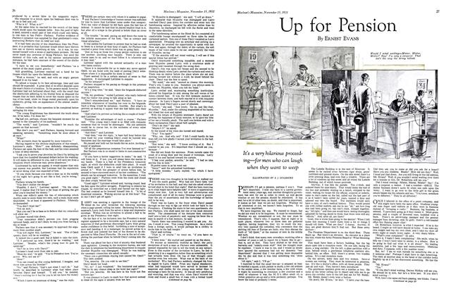 Article Preview: Up for Pension, November 15th 1931 1931 | Maclean's