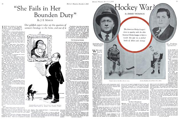 "Article Preview: ""She Fails in Her Bounden Duty"", December 1st 1931 1931 