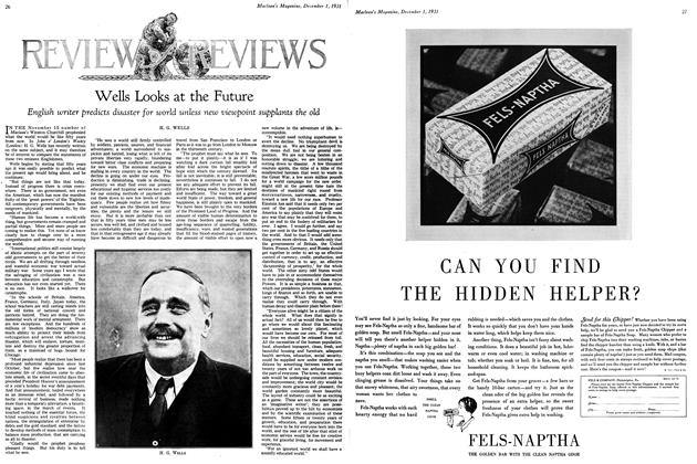 Article Preview: Wells Looks at the Future, December 1st 1931 1931 | Maclean's