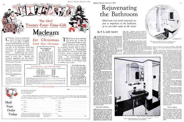 Article Preview: Rejuvenating the Bathroom, December 1st 1931 1931 | Maclean's