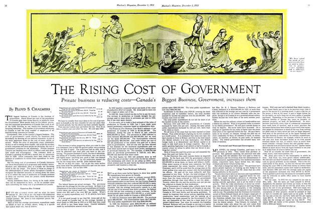 Article Preview: THE RISING COST OF GOVERNMENT, December 1st 1931 1931 | Maclean's