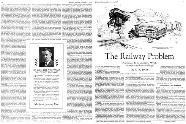 Article Preview: The Railway Problem, December 15th 1931 1931 | Maclean's