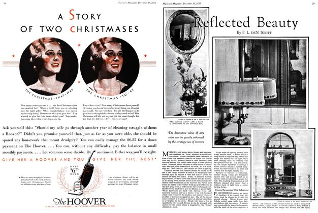 Article Preview: Reflected Beauty, December 15th 1931 1931 | Maclean's
