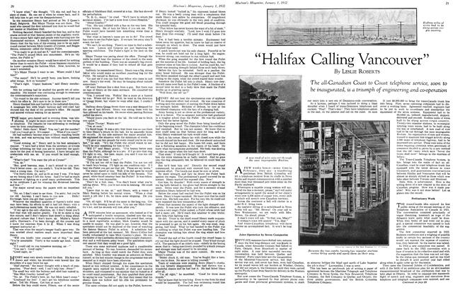 "Article Preview: ""Halifax Calling Vancouver"", January 1932 