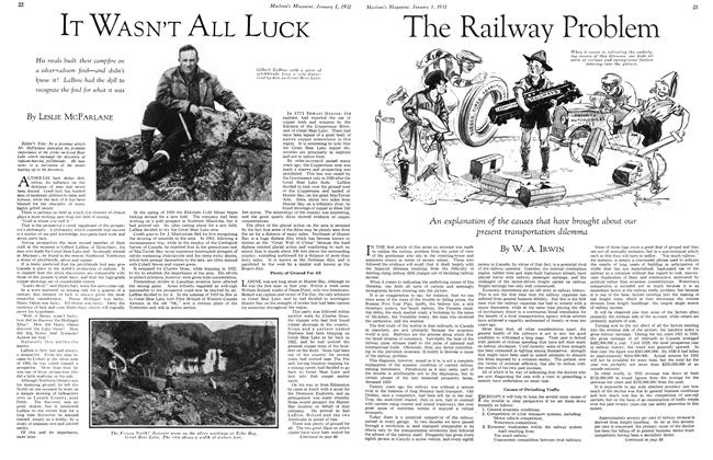 Article Preview: IT WASN'T ALL LUCK, January 1932 | Maclean's