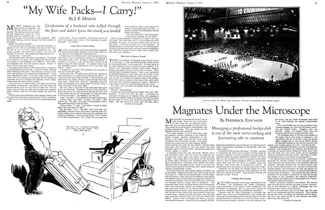 """Article Preview: """"My Wife Packs—I Carry!"""", January 1932 