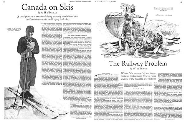 Article Preview: The Railway Problem, January 1932 | Maclean's