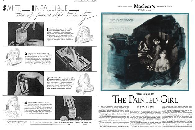 Article Preview: THE CASE OF THE PAINTED GIRL, January 1932 | Maclean's