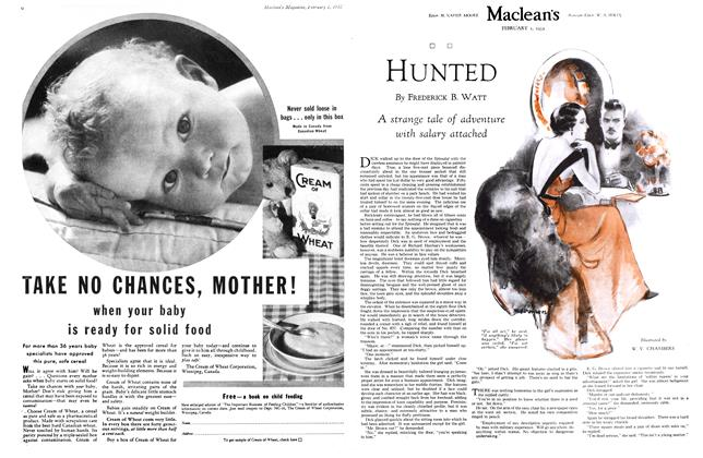 Article Preview: HUNTED, February 1st 1932 1932 | Maclean's