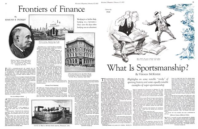 Article Preview: Frontiers of Finance, February 15th 1932 1932 | Maclean's