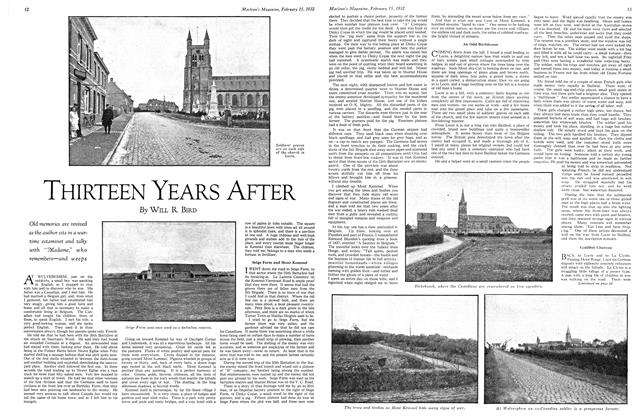 Article Preview: THIRTEEN YEARS AFTER, February 15th 1932 1932 | Maclean's