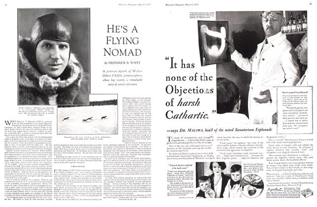 Article Preview: HE'S A FLYING NOMAD, March 1932 | Maclean's