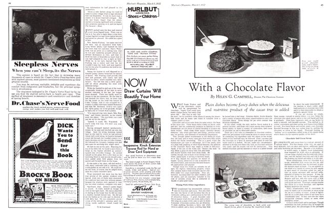 Article Preview: With a Chocolate Flavor, March 1932 | Maclean's