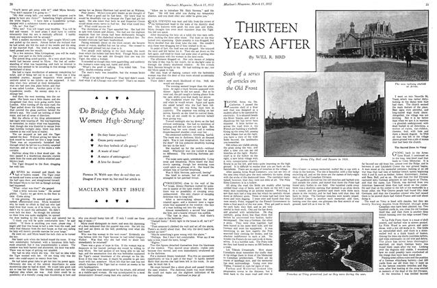 Article Preview: THIRTEEN YEARS AFTER, March 1932 | Maclean's