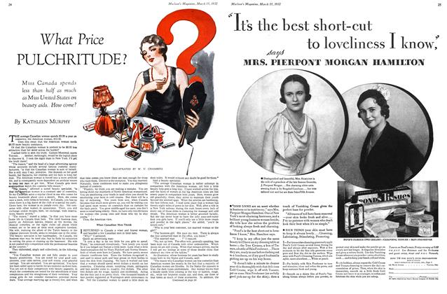 Article Preview: What Price PULCHRITUDE?, March 1932 | Maclean's