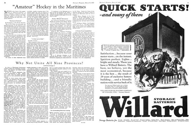 """Article Preview: """"Amateur"""" Hockey in the Maritimes, March 1932 