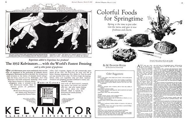 Article Preview: Colorful Foods for Springtime, March 1932 | Maclean's