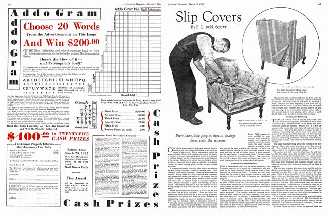 Article Preview: Slip Covers, March 1932   Maclean's
