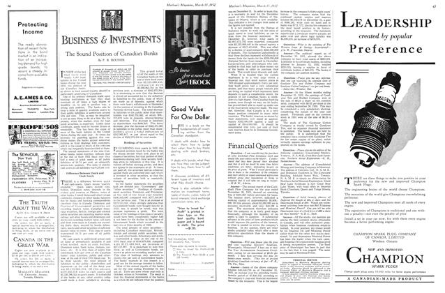 Article Preview: The Sound Position of Canadian Banks, March 1932 | Maclean's