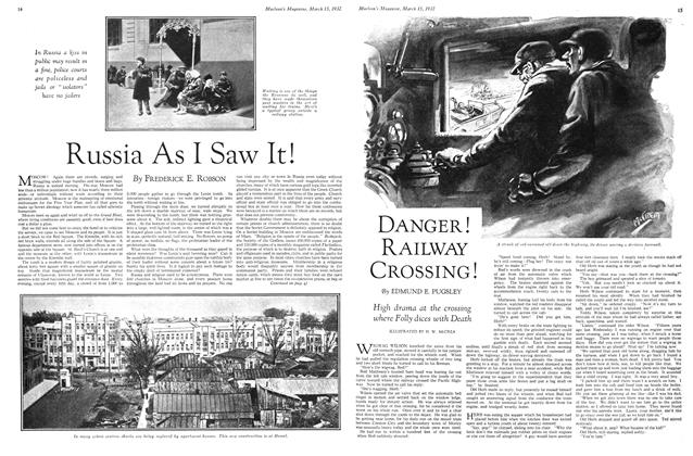Article Preview: DANGER RAILWAY CROSSING!, March 1932 | Maclean's