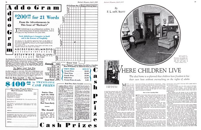 Article Preview: WHERE CHILDREN LIVE, April 1st 1932 1932 | Maclean's