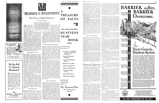 Article Preview: Financial Queries, April 1st 1932 1932 | Maclean's