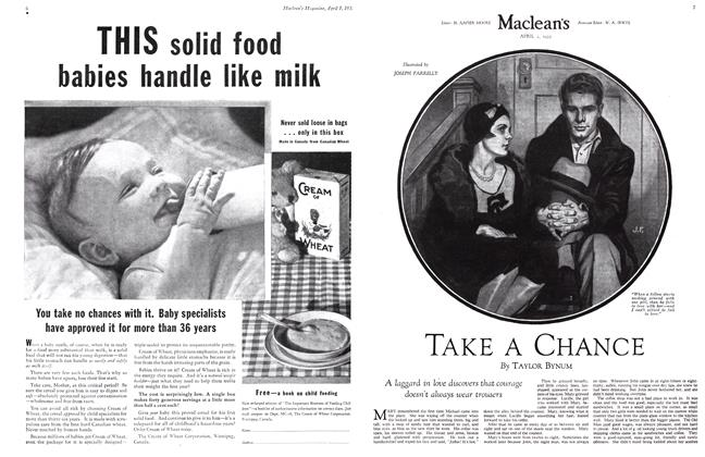 Article Preview: TAKE A CHANCE, April 1st 1932 1932 | Maclean's