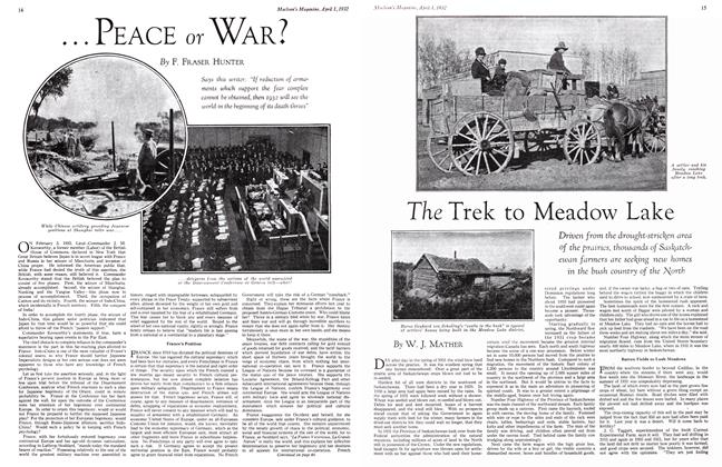 Article Preview: The Trek to Meadow Lake, April 1st 1932 1932 | Maclean's