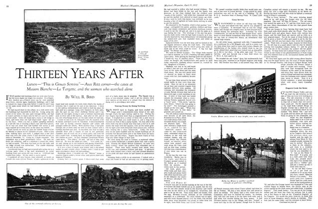 Article Preview: THIRTEEN YEARS AFTER, April 1932 | Maclean's