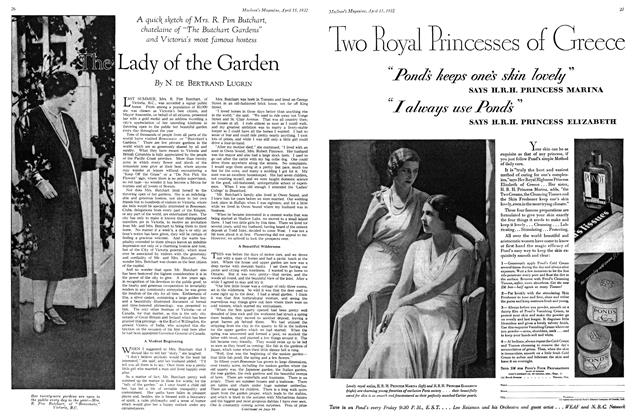 Article Preview: Lady of the Garden, April 1932 | Maclean's