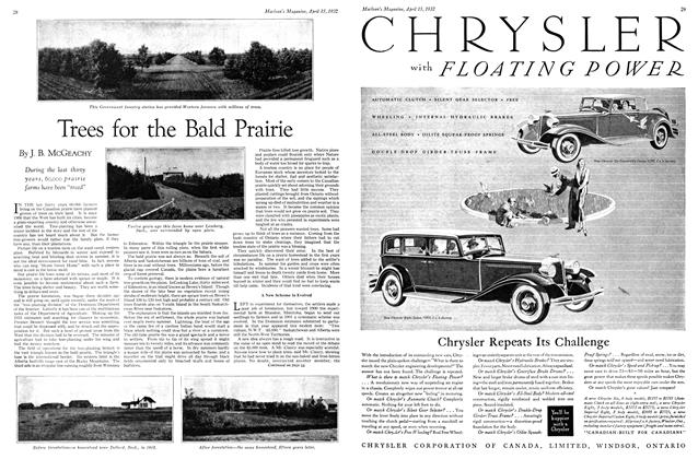 Article Preview: Trees for the Bald Prairie, April 1932 | Maclean's