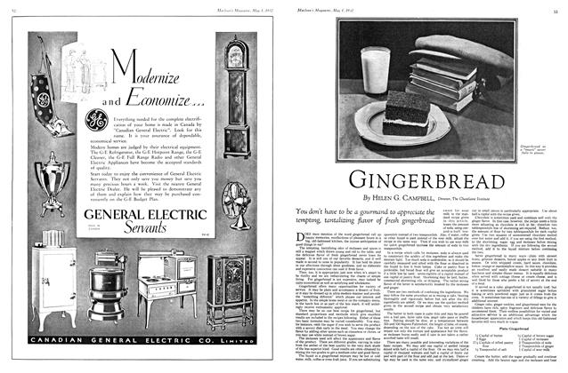 Article Preview: GINGERBREAD, May 1st 1932 1932 | Maclean's