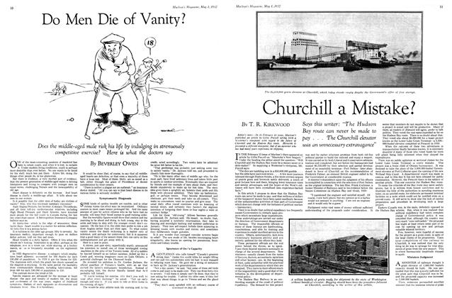 Article Preview: Do Men Die of Vanity?, May 1st 1932 1932 | Maclean's