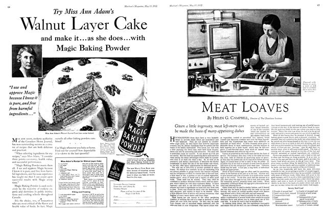 Article Preview: MEAT LOAVES, May 15th 1932 1932 | Maclean's