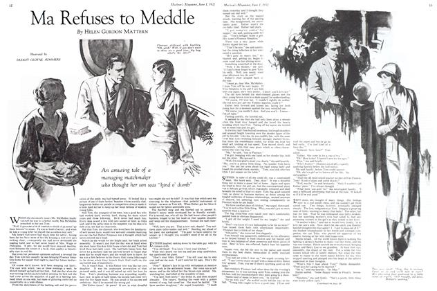 Article Preview: Ma Refuses to Meddle, June 1st 1932 1932 | Maclean's