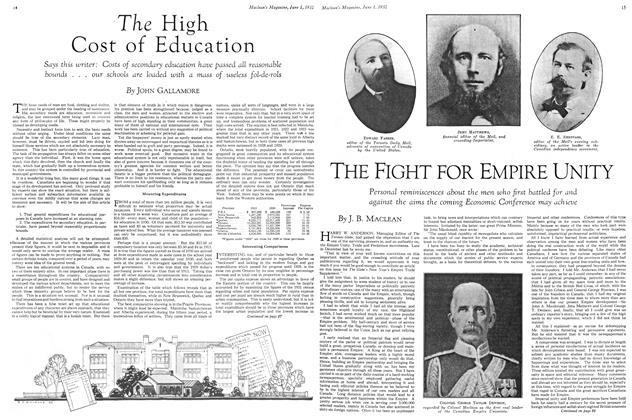 Article Preview: The High Cost of Education, June 1st 1932 1932 | Maclean's