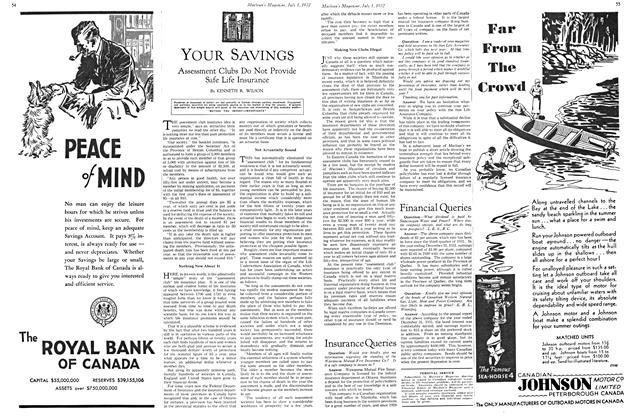 Article Preview: YOUR SAVINGS, July 1st 1932 1932 | Maclean's
