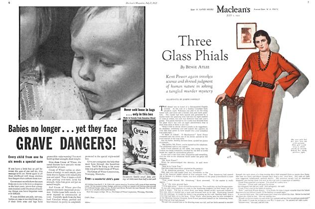 Article Preview: Three Glass Phials, July 1st 1932 1932 | Maclean's