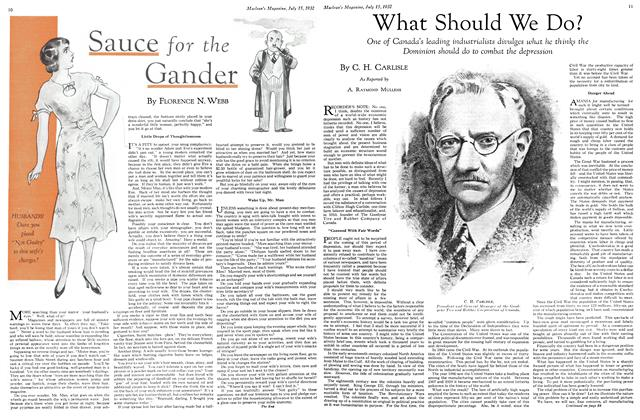 Article Preview: What Should We Do?, July 15th 1932 1932 | Maclean's