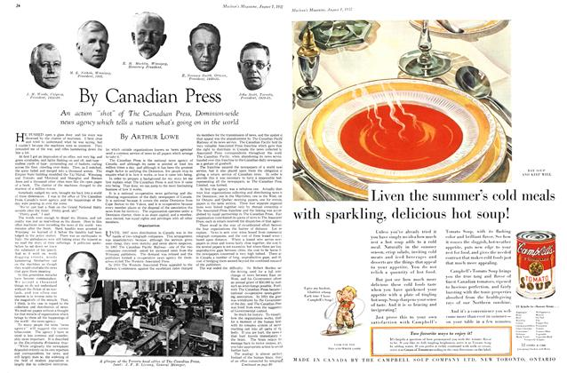 Article Preview: By Canadian Press, August 1st 1932 1932 | Maclean's