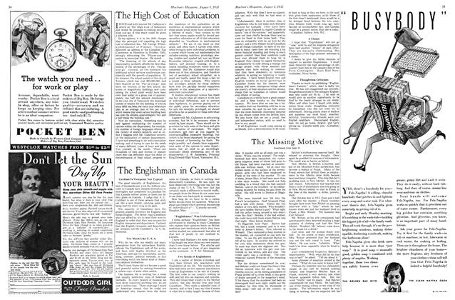 Article Preview: The Englishman in Canada, August 1st 1932 1932 | Maclean's