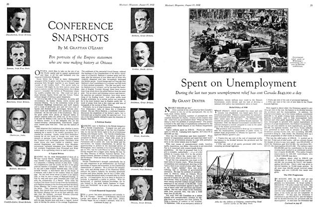 Article Preview: CONFERENCE SNAPSHOTS, August 15 th 1932 1932 | Maclean's